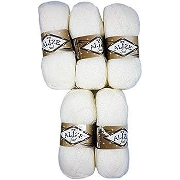 Strickwolle 28/% Wolle veredelt 50g Strickgarn Jelka m 4 wähle aus 43 Farben