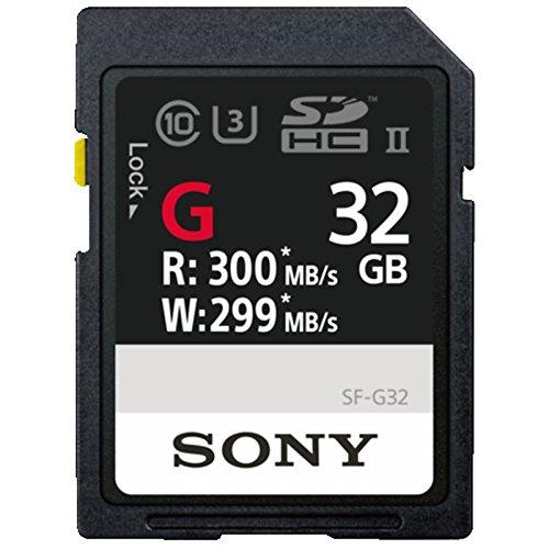Sony Sdhc 32gb (Sony sf32g High Speed 32GB sf-g Serie uhs-ii SD Speicherkarte Schwarz  32 GB)