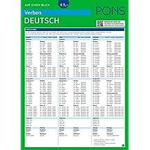 PONS Verben auf einen Blick Deutsch: Übersicht aller Verbformen, Konjugationen und Zeiten auf einen Blick (PONS Auf einen Blick)