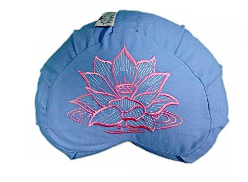 sarrasin Coussin de méditation demi-lune Fleur de Lotus Bleu