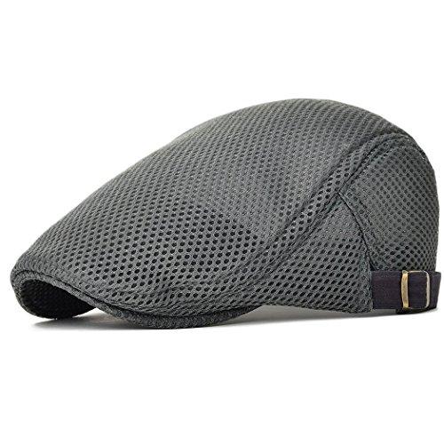 NALITARE Herren Schirmmütze Einstellbar Sommer Kappe Hut Schiebermütze Flatcap (Gray) Coole Trucker Hut