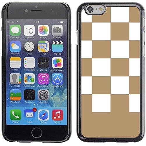 Graphic4You Kariert Muster Design Harte Hülle Case Tasche Schutzhülle für Apple iPhone 6 Plus / 6S Plus (Aqua Blau) Hellbraun