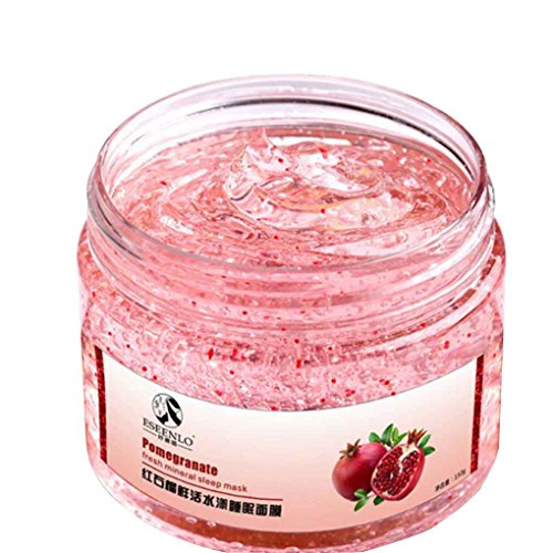 LUFA Frauen-Mädchen-Rot Granatapfel Schlafmaske Gesichtspflege flüssige Sahne Whitening-Falten-Aging Hautpflege-Lotion