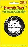 Magnetisch, 2 m langes, selbstklebendes Band, 10 mm breit, 1,5 mm dick, selbstklebend, aus 3 m)