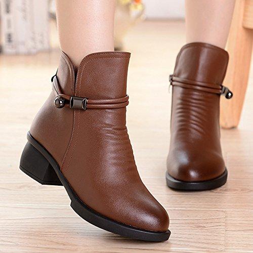 FLYRCX La sig.ra inverno irregolare con l'antislittamento moda Mianwa leisure plus stivali di velluto dimensione europea: 35-43 B
