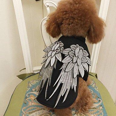 Katzen Hunde Kostüme Hundekleidung Winter Sommer Frühling/Herbst Engel & Teufel Niedlich Cosplay Geburtstag Modisch Klassisch Schwarz , (Engel Gruppe Kostüme Teufel Und)