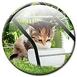"""Kühlschrankmagnet Katze mit lustigem Katzenmotiv """"Unter dem Gartenstuhl!"""", Magnete für Magnettafel, Bunt, stark groß rund 50mm"""