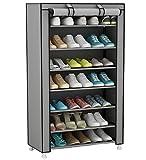 UDEAR Armario para zapatos de tela Shoes rack Zapato del gabinete Zapatero estantería Gris