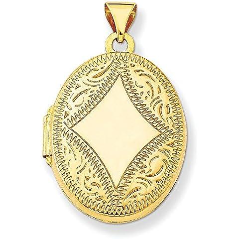 14K oro ovale medaglione