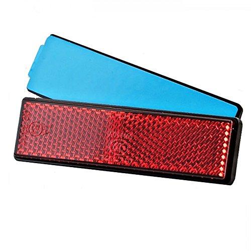 Preisvergleich Produktbild BISOMO Reflektor E-geprüft - selbstklebend - rot - rechteckig für Fahrrad - Anhänger - Auto - Motorrad - Mofa - Quad