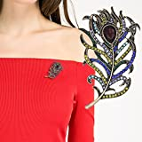 Rrimin Women's Alloy Rhinestone Brooch Pin (133241_Golden)