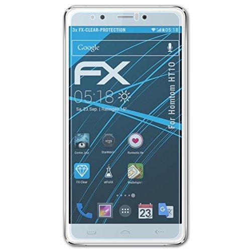 atFolix Schutzfolie kompatibel mit Homtom HT10 Folie, ultraklare FX Bildschirmschutzfolie (3X)