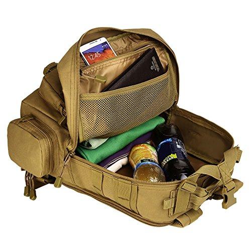 Reefa 30 L Patrouille Tarnung im Freien Reiten Rucksack Bergsteigen Tasche Reisetaschen Braun