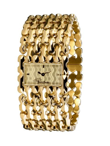 Roberto Cavalli Ladies Oryza Analogue Watch R7253124017 with Yellow Gold PVD Dial and Stainless Steel Case