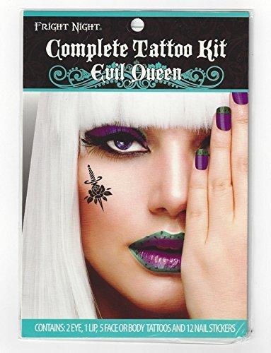 Fright Night Complete Halloween Tattoo Kit (Evil Queen) by Fright Night (Night Fright Halloween)