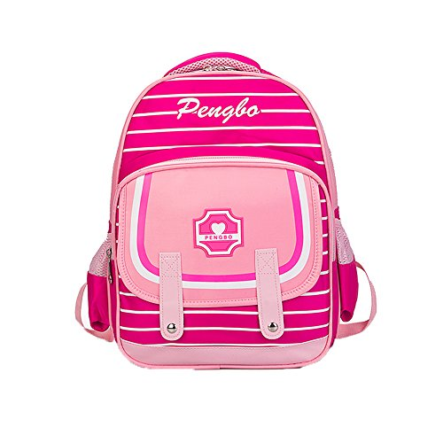 PLOT Backpack Girls Boys Striped Backpacks Schoolbag School Bags Travel Bag Bookbag