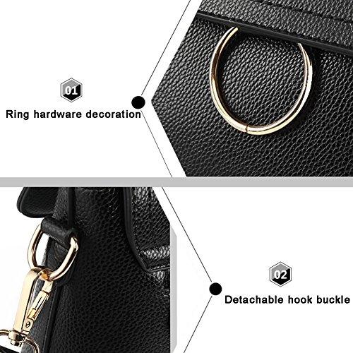 Yoome Fashion Taschen für Mädchen Casual Tote Purses Für Frauen Circular Ring Elegant Taschen Für Frauen - Blau Weiß