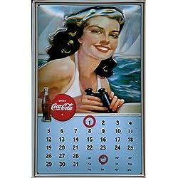 Buddel-Bini Versand Cartel de Chapa nostálgico Coca Cola Toldo magnético Calendario