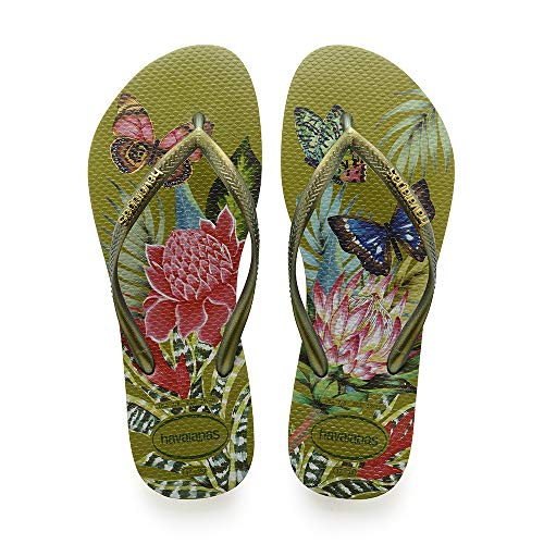 Havaianas Slim Tropical, Infradito Donna, Multicolore (Camo Green 7184), 39/40 EU
