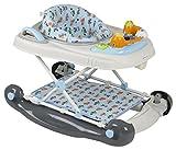 BabyGO 4in1 Lauflernhilfe Walker mit Schaukel und Schiebefunktion + höhenverstellbar + Spielecenter