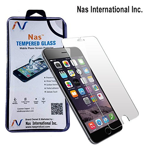 NAS Premium Tempered Glass Screen Protector for Apple Iphone 6(Clear)(Comes with Warranty)Complimentary Prep Tissues