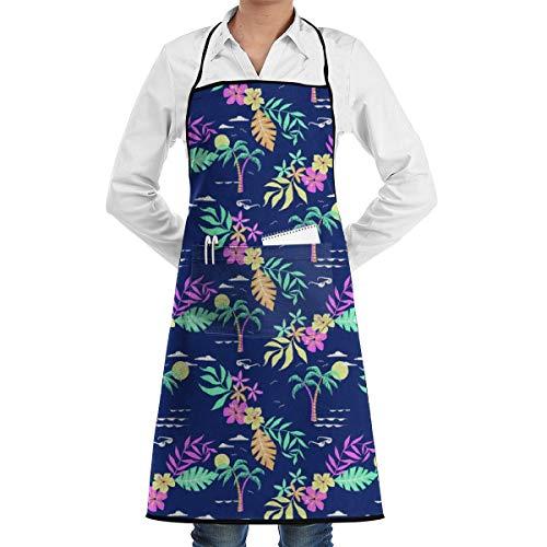 Hawaiian Shirt Aprons for Women/Men Gag Gift BBQ Cooking Sewing Chef Apron 72 X 52 cm - Womens Hawaiian Shirt