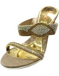 29d53954f61 Amazon.es  sandalias fiesta doradas - WAWSHOES   Zapatos  Zapatos y ...