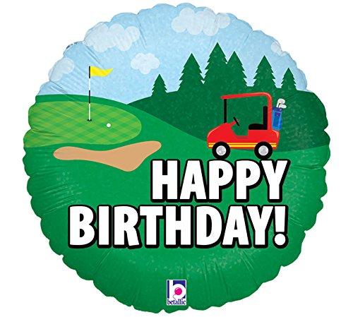 Burton & Burton Happy Birthday Golf Folie/Mylar Ballon
