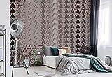 Wallsticker Warehouse Dreieck-Muster Braun Vlies Fototapete Fotomural - Wandbild - Tapete - 368cm x 254cm / 4 Teilig - Gedrückt auf 130gsm Vlies - 2512V8 - Muster