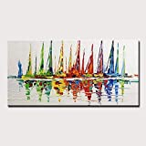 Rincr Handgemalte Dickes Öl Schöne Blumen Ölgemälde Günstige Malerei Auf Leinwand Einzigartiges Geschenk Wandkunst Bild Für Wohnzimmer - 70x140 cm