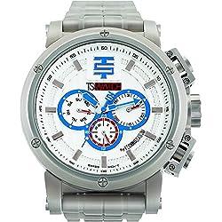 TechnoSport Herren Chrono Uhr - Silber