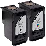 Remanufactured High-Capacity Canon PG-540XL & CL-541XL Ink Cartridges For Canon Pixma MG3550 Printers - By Carooble