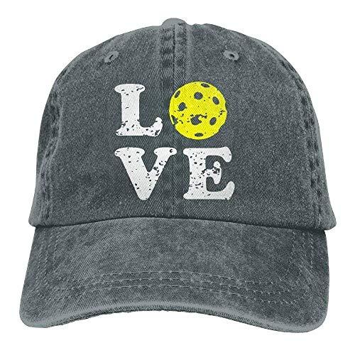 68482ea762d Aoliaoyudonggha Mens Womens Love Pickleball Denim Fabric Baseball Cap  Adjustable Hat
