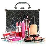 DURAGADGET Maletín / Estuche Organizador Profesional De Maquillaje / Paletas / Cosméticos - Con Asa - Aluminio De Alta Calidad