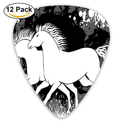 Antique Roman Time Gladiator Two Race Horses With Paint Marks Guitar Picks 12/Pack Set -