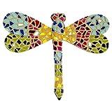 Garten Deko Figur Wand Dekoration MosaikLibelle- Bunt