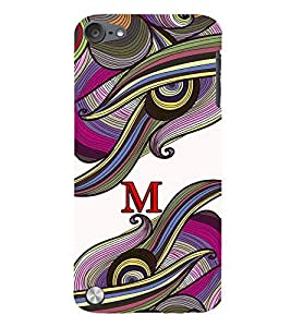FIOBS abstract colourful vibrant design alphabet M Designer Back Case Cover for Apple iPod Touch 6 :: Apple iPod 6 (6th Generation)