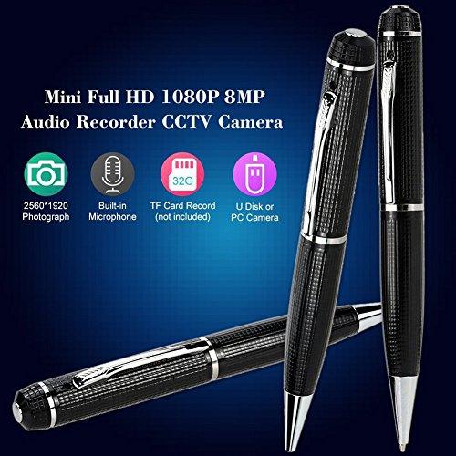 calistouk Pen Kamera Full HD 1080P Mini Camcorder Video Kamera Recorder (Video Pen Recorder)
