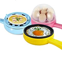 CPEX 2 in 1 electric egg frying pan with egg boiler machine Measuring cup