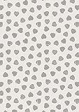 Lewis und Irene Taube Haus grau Herzen auf cremefarbenem