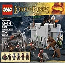 Toy / Game Lego The Lord Of The Rings Hobbit Urak Hai Army (9471) With Detachable Catapult And Hook Shooter
