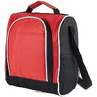 Lunch Bag Style Spalla Tote Borsa per il pranzo Borsa Porta Pranzo Donne Uomini Rosso