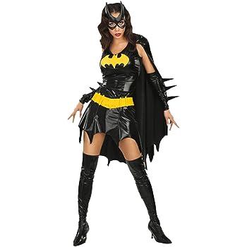 NET TOYS Costume da Batgirl travestimento da donna pipistrello supereroi fumetti - L 46/48