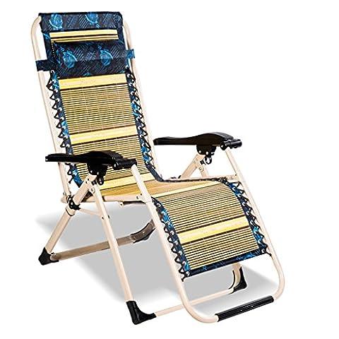 WYF-Meubles de salon Chaise inclinable Eté Accueil Chaise Siesta Bureau de loisirs Bamboo Nap Chaises pliantes naturelles Sandy Beach WYF-chaise