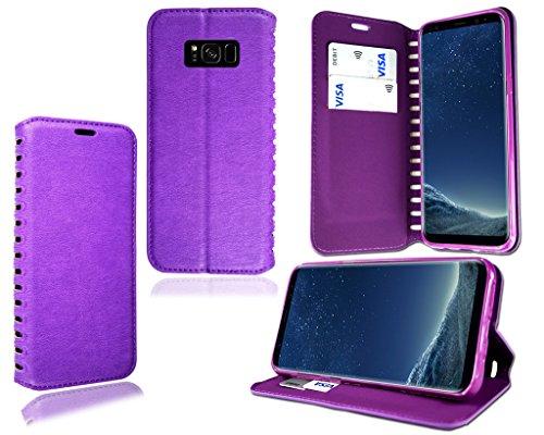 """Apple iPhone 5s 6S 7Plus élégant Nouveau authentique Premium Cuir Flip Stand Wallet téléphone Coque, Orange Wallet, Apple iPhone 6 6S (4.7"""") Porte-feuille - Violet"""