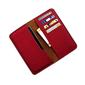 i-KitPit : PU Leather Wallet Flip Pouch Case For Samsung Galaxy Grand Duos / Grand Neo (RED)