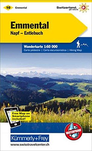 Emmental, Napf, Entlebuch Wanderkarte Nr. 10: 1:60000, waterproof, Freemap on Smartphone included (Kümmerly+Frey Wanderkarten)