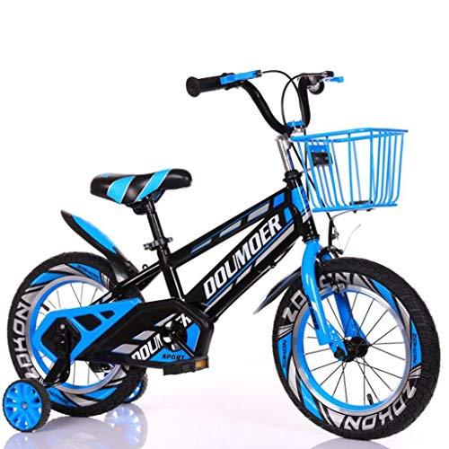 """K-G Bicicleta Infantil Bicicletas Niños Niños De La Bici por 3-10-Year Old Boy/Girl Bicicletas De Pedales De Tamaño 12\"""" 14\"""" 16\"""" 18\"""" Pulgadas con El Soporte (Color : Blue, Size : 16\'\')"""