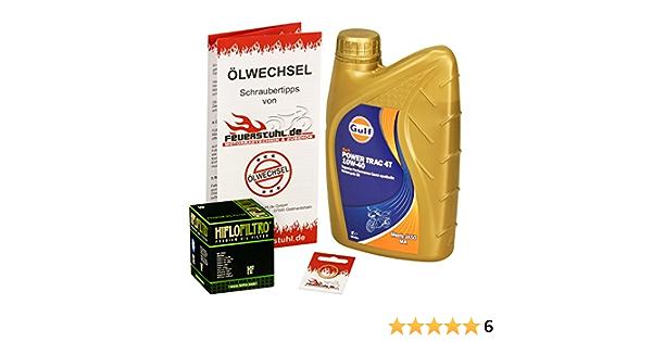 Gulf 10w 40 Öl Hiflo Ölfilter Für Suzuki Gn 125 94 99 Nf41a Ölwechselset Inkl Motoröl Filter Dichtring Auto