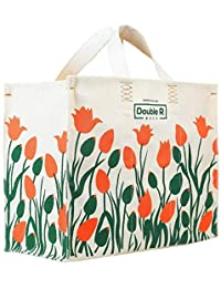 Double R 100% Pure Cotton Canvas Tote Heavy Duty Biodegradable Grocery/Shopping/Multipurpose Bags.